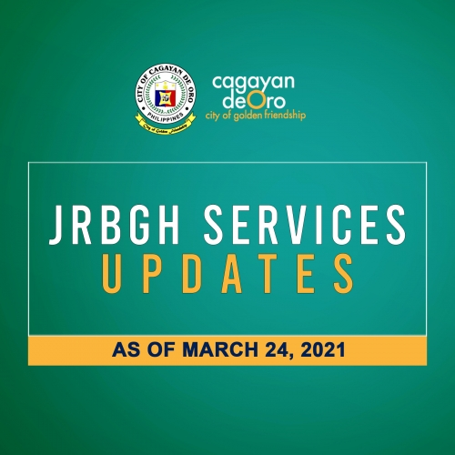 LOOK: J.R. Borja General Hospital services updates as of March 24, 2021
