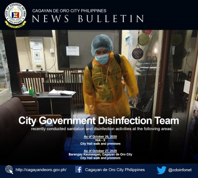 LOOK: City government disinfection team continues to conduct disinfection