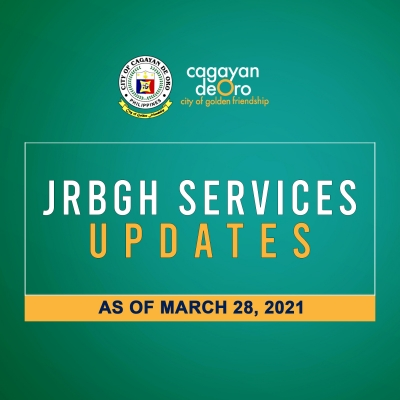 LOOK: J.R. Borja General Hospital services updates as of March 28, 2021