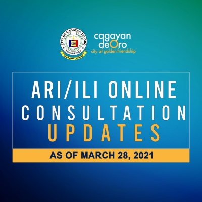 LOOK: Acute Respiratory Illness/Influenza Like Illness online consultation updates as of March 28, 2021