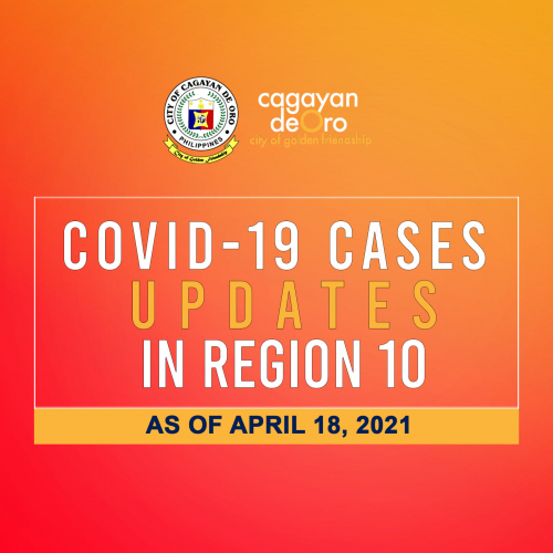 LOOK: Here's the daily COVID 19 case updates and situationer in region 10 as of April 18, 2021.