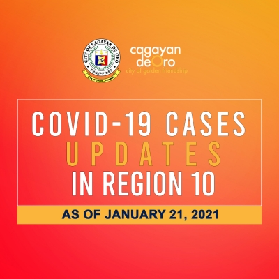 LOOK: Here's the daily COVID 19 case updates and situationer in region 10 as of January 21, 2021.